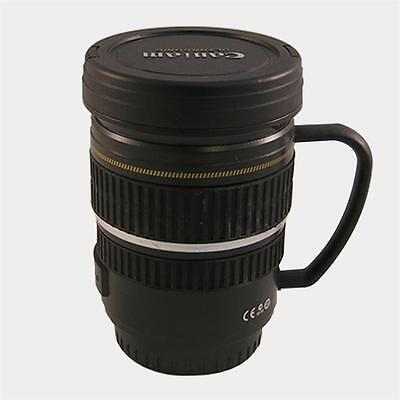 New Camera Lens Ef S 17 55Mm Coffee Tea Travel Thermos Mug Stainless 8Oz Cup