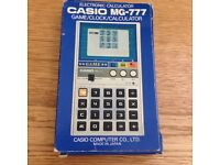 CASIO MG 777 vintage 1981 Calculator WORKING BOXED