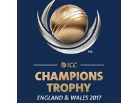 2 x Silver tickets for ICC Champions Trophy1st Semi-Final.