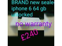 Brand new sealed iphone 6 64gb unlocked