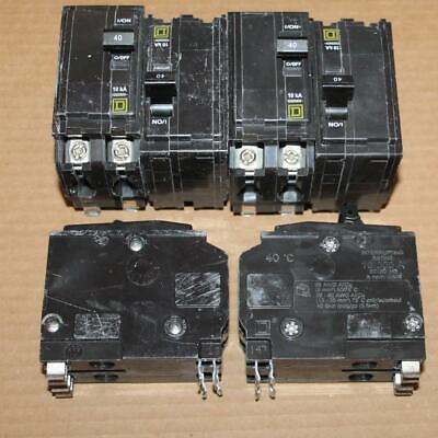 One New Scuffed Square D Qo240 2 Pole 40a Plug In Breaker From Serv Truck Bins
