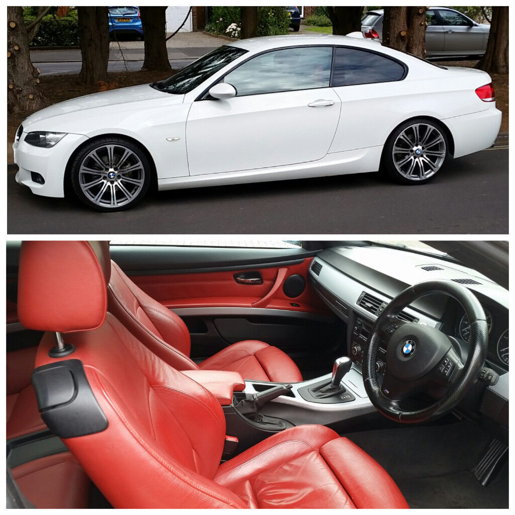Bmw 3 Series White With Red Interior Picture Idokeren