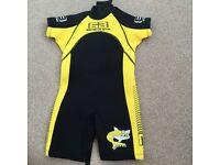 Brand new Banana bite WWF international shortie wetsuit age 2-3yrs