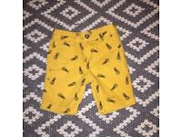 Age 3 La Redoute pineapple shorts