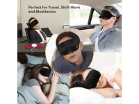 Sleep Mask,Eye Mask,Gritin Zero-Pressure 3D Soft Memory Foam Contoured Sleeping Mask
