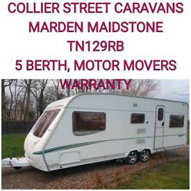 2006 Abbey spectrum 620/5 berth caravan +motor movers twin axle