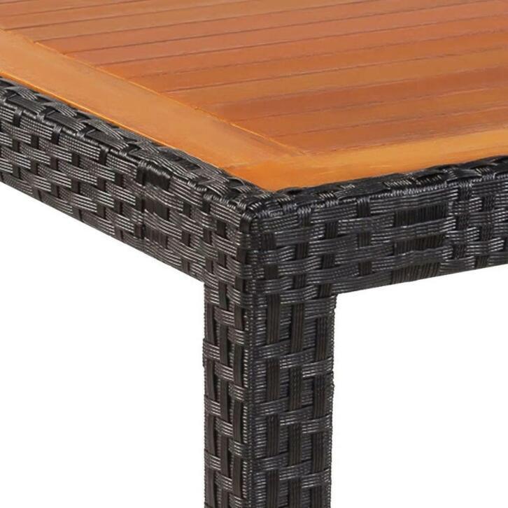VidaXL Table de jardin Rotin Dessus de table bois d acacia 1 ...