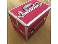 Pink Cosmetic Beauty Case.
