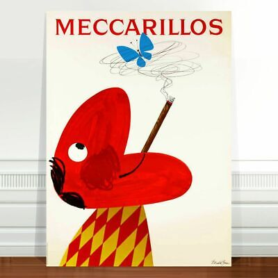 "Vintage Cigarette Advertising Poster Art ~ CANVAS PRINT 8x10"" Meccarillos"