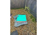 Hottub base protector and 4 foam squares