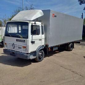 Left hand drive Renault Midliner S100 7.7 Ton tilt truck. Perkins engine. Low miles.