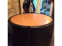 Round dining kitchen table with 4 leather chairs
