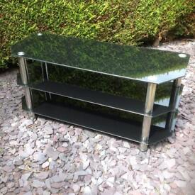Black Glass TV Stand Table