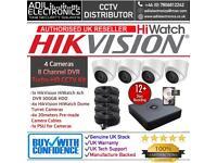 HikVision HiWatch 4 Cameras Turbo-HD Full CCTV Kit: 8CH 500GB DVR & 4x Full HD 1080P 2MP Dome Camera