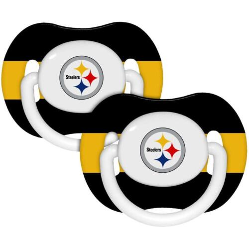 Pittsburgh Steelers Pacifiers 2 Pack Set Infant Baby Fanatic