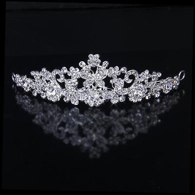 Wedding Bridal Crystal Diamante Butterfly Flower Crown Headband Tiara Headpiece