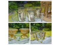 Wedding or Event Tealight Candleholders variety sold seperately gold, clear and copper