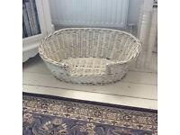 White Medium size dog basket
