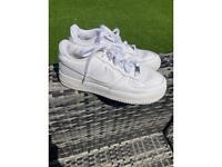 White Nike Air Force 1 UK Size 5
