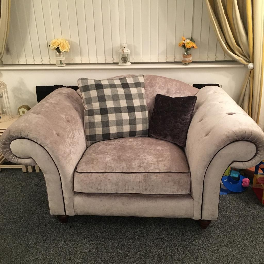 Chesterfield On Back Silver Grey Sofa Regent From Sofaworks
