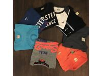 Hollister boys tops mostly Small (7) and 1 SuperDry top