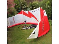FLEXIFOIL STORM 10 KITE and HARNESS.