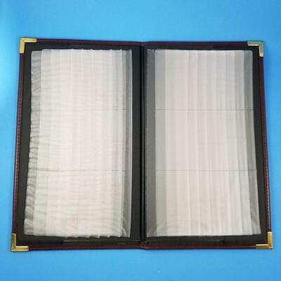 Business Card Album Holder Wallet Case 12.5 X 7.5 Book 15 Flip Pages 90 Slot