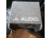 "JL Audio bass wedge box with Rockford fosgate P2 Punch 12"" sub"