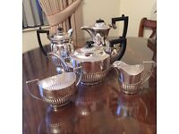 Silver plated coffee and tea set five piece set