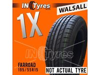1x New 195/55R15 Farroad WP16 Tyre Fitting is Available Budget x1 Tyres Walsall