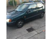 Toyota. Starlet. 3 door hatchback. Very good condition for year long mot owned for 3 years no