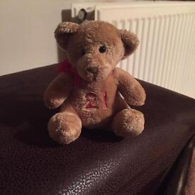 21st birthday bear keyring