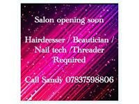Hairdresser / Nail tech required