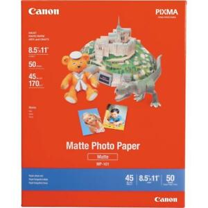 "Canon 7981A004 Photo Paper (Matte) for Inkjet - 8.5x11"" (Letter) - 50 Sheets (New Other)"