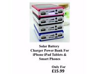 New High Quality 100000mAh Solar Battery Charger Power Bank For iPhone iPad Tablets Smart Phones