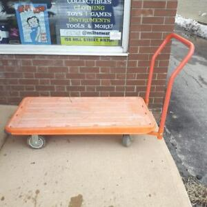 "4 Wheel Heavy Duty Orange Dolly 47""x23"""