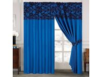 90 x90 curtains assorted colours with ite backs