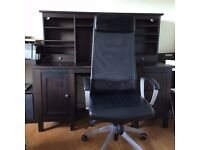 Ikea Hemnes office desk and Ikea Markus office chair both in GC