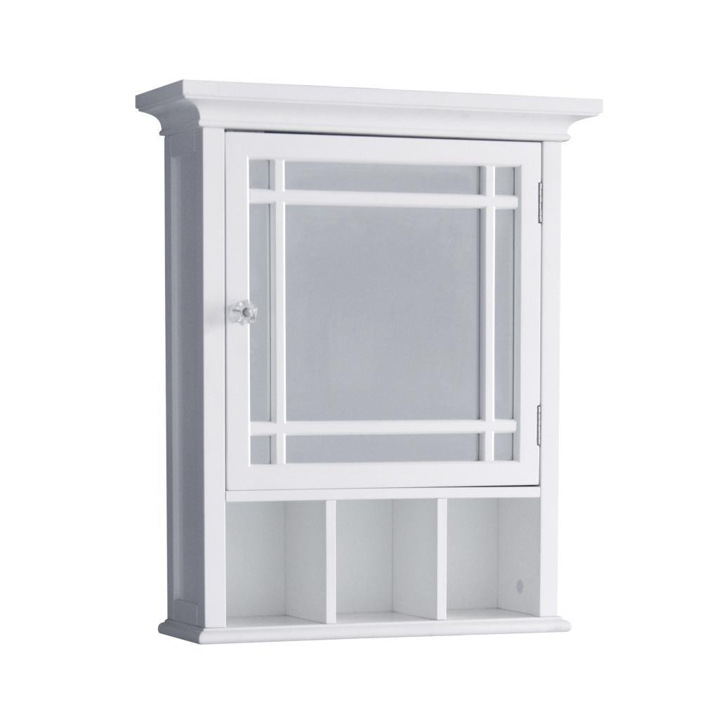 Neal Wall Mount Medicine Cabinet w 1 Mirror Door & Cubbies f