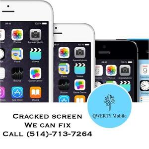 cell phone repair / apple iPhone 5 screen replacement / LCD and glass assembly / top quality screen/ LAVAL #1