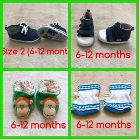 Baby shoes bundle size 2 (6-12 months)