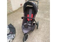Phil and Teds Sport pushchair with lots of accessories
