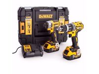 Dewalt Twin Pack 5Ah Combi & Impactor Kit & DAB Radio - Not Bosch makita