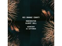 4x Rex Orange County standing tickets, Albert Hall Manchester, Wednesday 26th September 2018