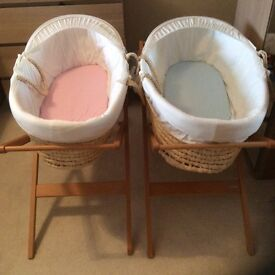 Moses baskets with stands for sale