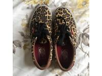 Leopard Vans size 4