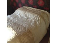 Bedspread - champagne satin appliqué, beautiful and as new