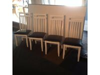 Solid Hardwood White Dining Chairs x2 or x4