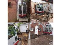 Operated mini digger hire, CPCS, experienced & fully insured