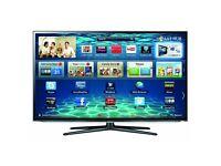 "Samsung 46"" 1080p 3D LED Smart TV with active 3D glasses. Mint condition."